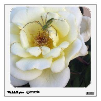 fotografía color de rosa y de la araña vinilo adhesivo