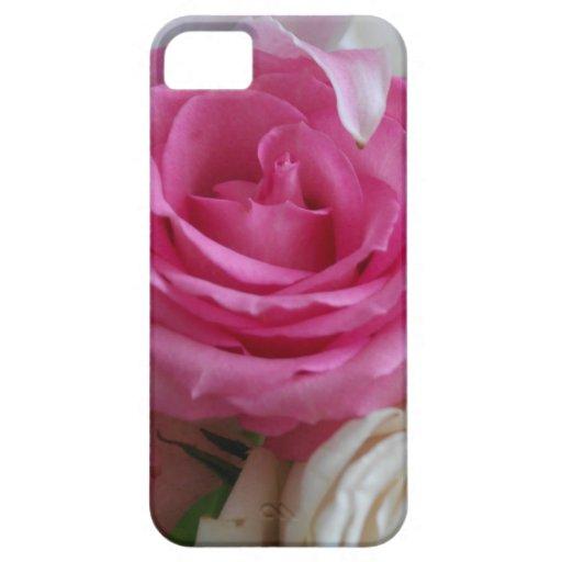 Fotografía color de rosa y de Lilly iPhone 5 Fundas