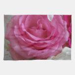 Fotografía color de rosa y de Lilly Toallas De Cocina