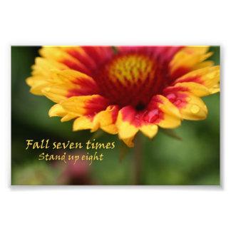 Fotografía colorida de la flor de la cita inspirad fotos
