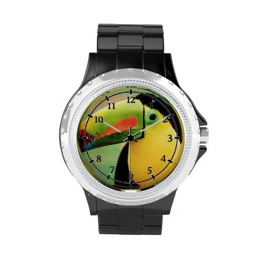 Fotografía colorida de la naturaleza salvaje del p reloj de mano
