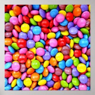 Fotografía colorida de los caramelos poster