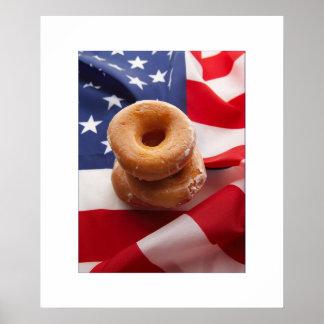 Fotografía creativa de la dieta americana posters