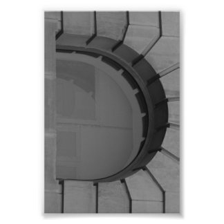 Fotografía D7 4x6 blanco y negro de la letra del Cojinete