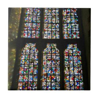 Fotografía de Barcelona del vitral de Sagrada Teja Ceramica