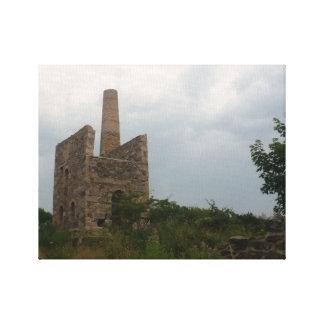 Fotografía de Cornualles de la mina de lata de Lona Estirada Galerias