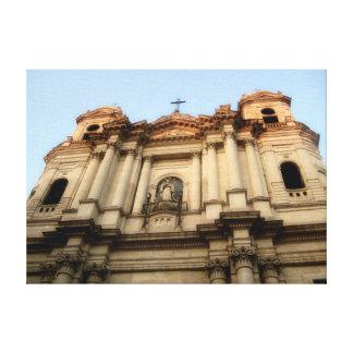 Fotografía de Duome de la catedral de Catania Ital Lienzo Envuelto Para Galerias