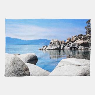 Fotografía de encargo del puerto de la arena del l toalla de mano