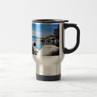 Fotografía de encargo del puerto de la arena del taza de viaje