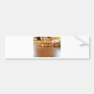 Fotografía de enlatado de la jalea de Apple Pegatina Para Auto