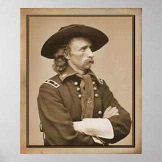 Fotografía de George Armstrong Custer 1876 Póster