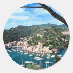 Fotografía de Italia de la costa de mar Etiqueta Redonda