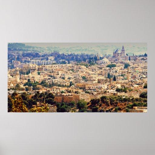 Fotografía de Jerusalén, la ciudad emparedada de l Posters