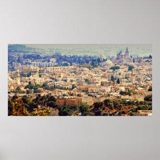 Fotografía de Jerusalén, la ciudad emparedada de l Póster