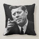 Fotografía de John F. Kennedy 3 Cojín Decorativo