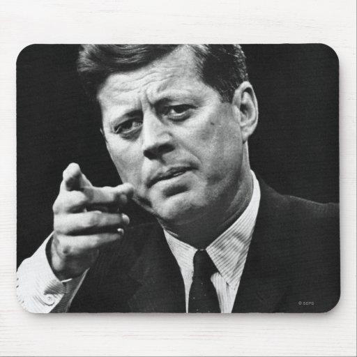 Fotografía de John F. Kennedy 3 Tapetes De Ratón