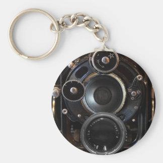 Fotografía de la antigüedad de la cámara del llavero redondo tipo pin