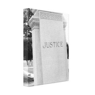 Fotografía de la bella arte de la justicia blanco impresion de lienzo