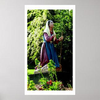 Fotografía de la bella arte del St Bernadette Póster