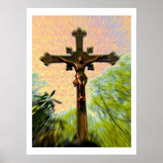 Fotografía de la bella arte del Viernes Santo Póster