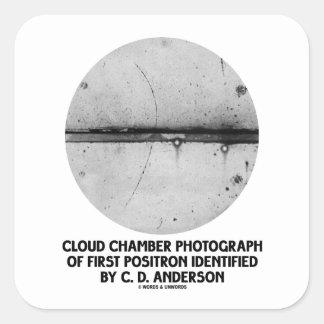 Fotografía de la cámara de nube del primer pegatina cuadrada