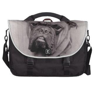 Fotografía de la cara del dogo del vintage bolsas de ordenador