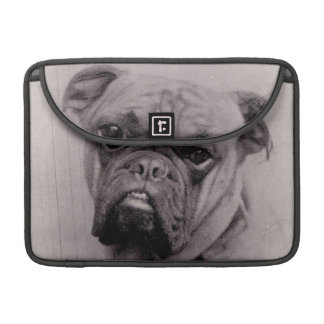 Fotografía de la cara del dogo del vintage funda para macbook pro