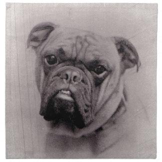 Fotografía de la cara del dogo del vintage servilletas de papel