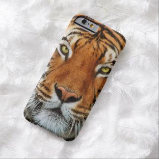Fotografía de la cara del tigre funda de iPhone 6 barely there