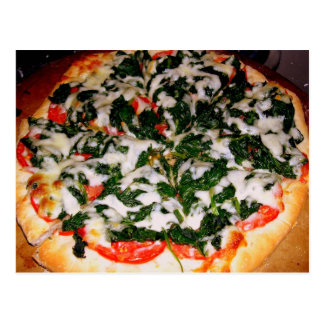 Fotografía de la comida de la pizza de la espinaca postales