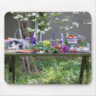 Fotografía de la comida fría del jardín alfombrillas de ratones