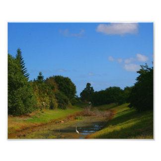 Fotografía de la corriente del cielo azul de los á arte fotográfico