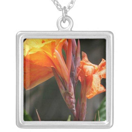 Fotografía de la flor de la ave del paraíso colgantes personalizados