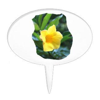 Fotografía de la flor de trompeta amarilla palillos de tarta