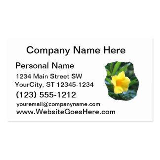 Fotografía de la flor de trompeta amarilla tarjetas de visita