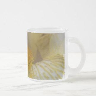 Fotografía de la flor del iris taza de cristal