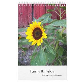 Fotografía de la granja de América y del país del Calendario De Pared