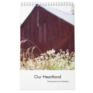 Fotografía de la granja del centro de América Calendario De Pared