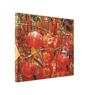 Fotografía de la linterna japonesa de Georgeous Impresión En Lienzo Estirada