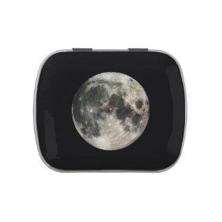Fotografía de la Luna Llena Frascos De Caramelos