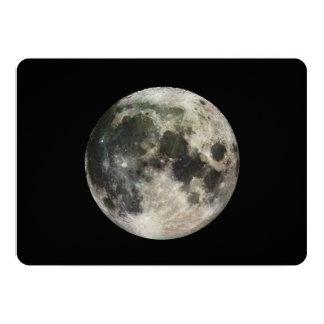 Fotografía de la Luna Llena Invitacion Personal