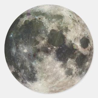 Fotografía de la Luna Llena Pegatina Redonda