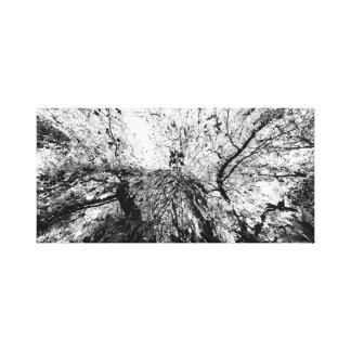 Fotografía de la mancha de tinta del árbol de arce impresion en lona