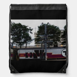 FOTOGRAFÍA de la mochila del lazo del tren de T