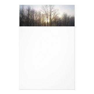 Fotografía de la naturaleza de la niebla del papelería de diseño
