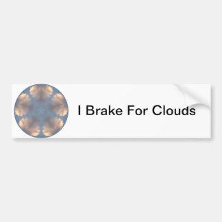 Fotografía de la nube exhibida en caleidoscopio etiqueta de parachoque