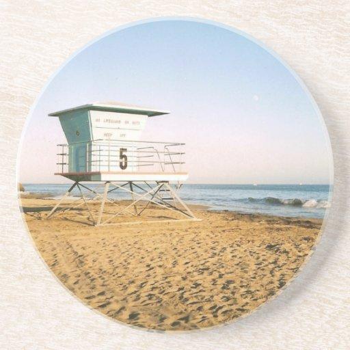 Fotografía de la opinión de la playa de California Posavasos Personalizados