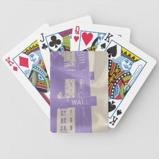 Fotografía de la placa de Wall Street Baraja Cartas De Poker