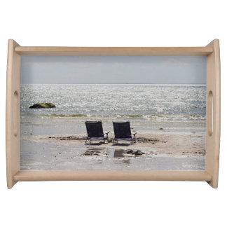 Fotografía de la playa bandeja