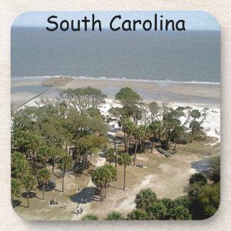 Fotografía de la playa de Carolina del Sur Posavasos De Bebidas
